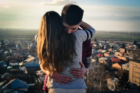 teenagers in love