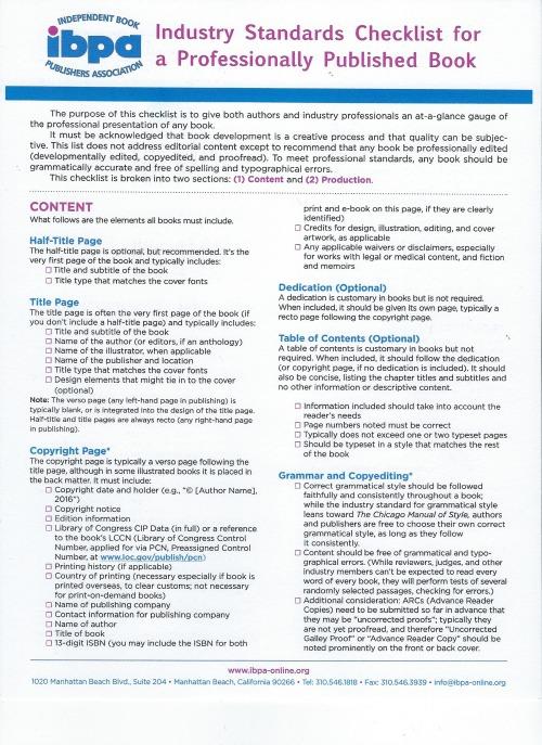 IBPA Standards 1